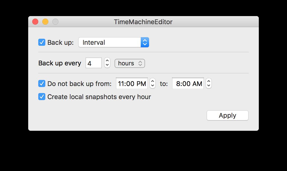delete time machine local snapshots mojave